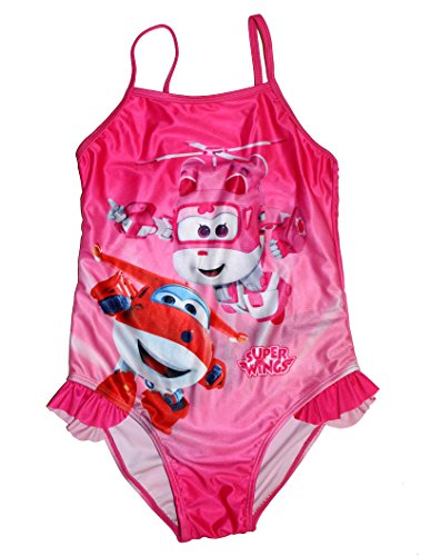 Super Wings S0712598 One Piece Swimsuit, Rosa, 7 Girls