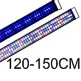 BOOMERSUN 120-150cm Illuminazione per Acquario 5730, Plafoniera LED Acquario Dolce, Lampada LED per Acquario Luce Acquario 8000K,1731LM