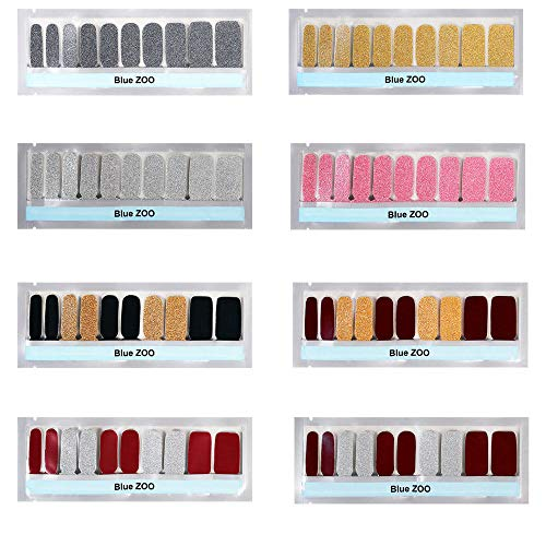 Nail Stickers Portable Nail Art Transfer Stickers Glitter Gradient Color Shine Full Wraps Polish Strips Manucure Auto-Adhesive Nail Decals