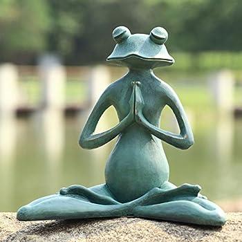 SPI Home 50791 Meditating Yoga Frog Garden Sculpture