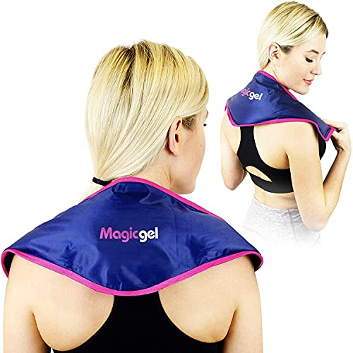 Neck Ice Pack - Soothing Pain Relief for Neck & Shoulder Pain. Cold Cervical Collar Compress Sits Above The Shoulders,Flexible,Reusable Freezer Gel Pad for Swelling,Injuries & Headaches (by Magic Gel)