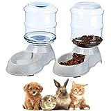 Queta Set Dispensador de Agua y Comida Gatos Perros Comedero automático Dispensador de Agua para Gatos Accesorios para Perros para Mascotas Gatos Perros Conejo Hámsters