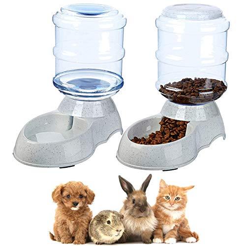 Queta Set Futter und Wasserspender Katzen Hunde Automatischer Futterautomat Katze Wasserspender Hunde Zubehör für Haustier Katzen Hunde Hase Hamster