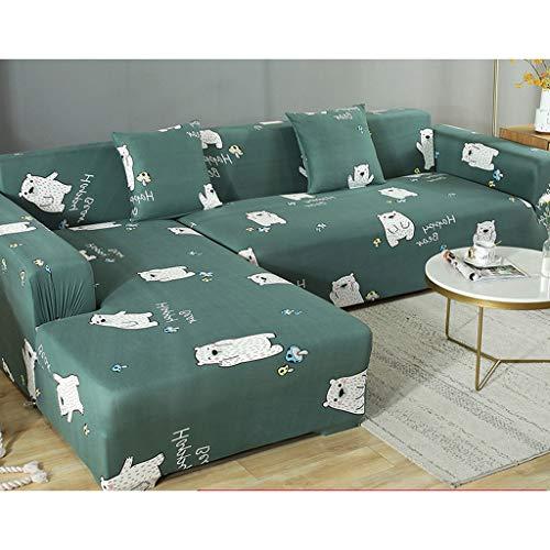 LLKK Funda de sofá elástica,1 2 3 4 Funda Protectora Universal de Cuatro Estaciones,Funda de sofá elástica Antideslizante Lavable a Prueba de Polvo de Tela elástica