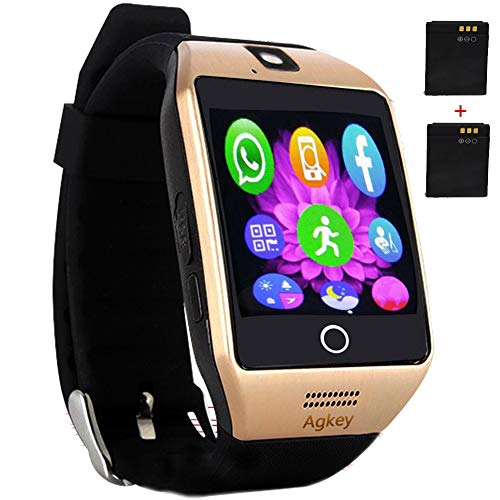 Smart Watch Touch Screen All-in-1 Smartwatch Wristwatch Unlocked Watch Phone with Camera Handsfree Call for Samsung S10 S9 S8 Plus S7 Edge S6 S5 J7 LG Huawei Motorola Android Phones Men Women Boys