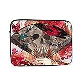 Estilo chino cráneo arte chica portátil bolsa 10 12 13 15 17 pulgadas maletín ordenador hombro Tablets PC negocios escuela mujeres hombres bolsa interior 12 pulgadas