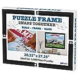 20 x 27 Puzzle Frame, Easy to Hang, Contemporary Matte Black, No Glare Frame