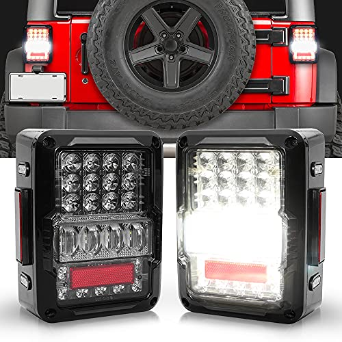 SPL DOT Approved LED Tail Light & Brake Light & Ultimate Reverse Lights EMC Build-in Rear Light Back Up Lights Daytime Running Lamps Replacement for Jeep Wrangler JK/JKU 2007-2017 Review