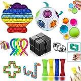 Fidget Toy, Fidget Toy Pack Anti Stress 15 Piezas,Fidget Toys Simple Antiestres, Adultos NiñOs Juguetes Sensoriales AntiestresestréS