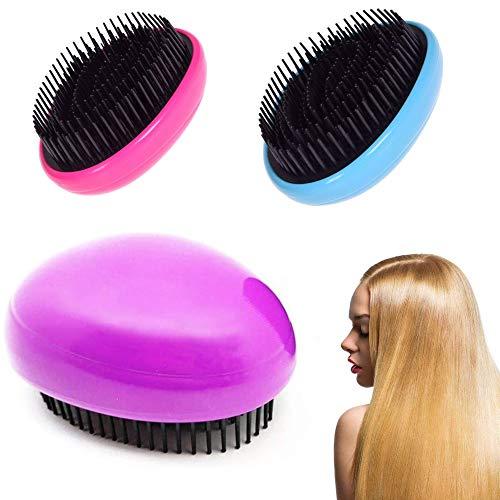 Kit de peigne antistatique électrique portable, kit de peigne de massage de soins des cheveux en matériau respectueux de l'environnement pour femmes (couleur aléatoire) (3 Pcs)