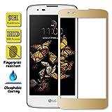 Granadatech Cristal Templado para LG K8 2017 Dorado [Cubre el Borde Biselado] l Protector de Pantalla, Calidad HD, Alta Resistencia a Golpes 9H - Sin Burbujas
