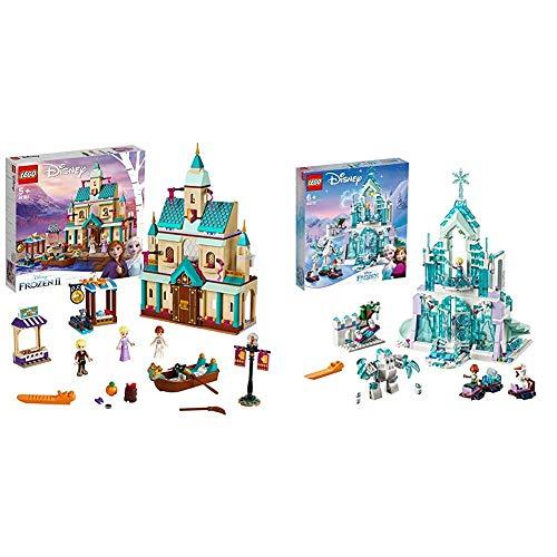 LEGO Disney Princess - Aldea del Castillo de Arendelle, Set de construcción Castillo de la Princesa Elsa + Lego Disney Princess 43172 Palacio mágico de Hielo de Elsa, Juguete para Construir