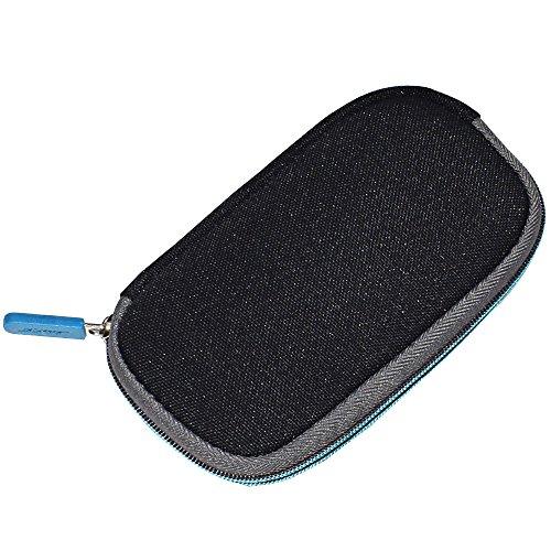 Learsoon Zipper Storage Case Cover Bag Pouch Compatible Bose QC20 QC20i QuietComfort 20 Headphones (Black)