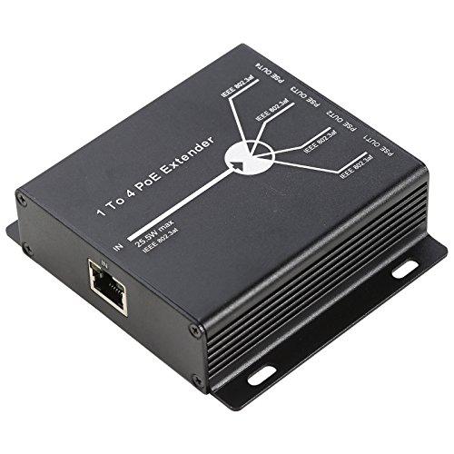 UHPPOTE 10/100M 4 Häfen PoE Extender Oben nach für Netzwerk AP IP Kamera Telefon Ausrüstung