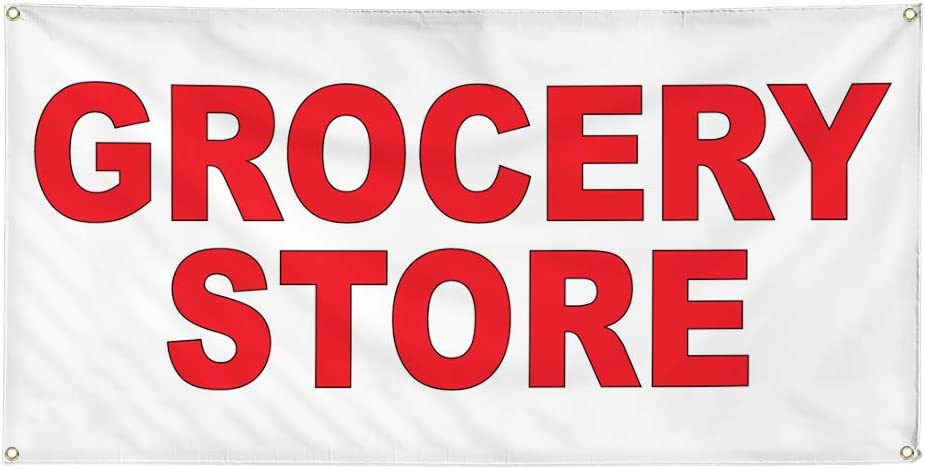 Vinyl Banner Multiple Sizes Grocery Food Store Red Restauran Bar 2021 autumn 55% OFF and winter new