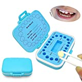 Baby Fairy Tooth Box,PP Teeth Boxes, Teeth Storage Box, Saver Box for Lost Tooth Children,Kids Keepsake Organizer Gift for Baby Teeth and Hair, Baby Shower& Birthday Gift (Blue)