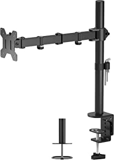"""Mountify Single LCD/LED Monitor Desk Mount Stand Heavy Duty Fully Adjustable fits 1 Screen up to 27"""" (Stand M-001S)"""