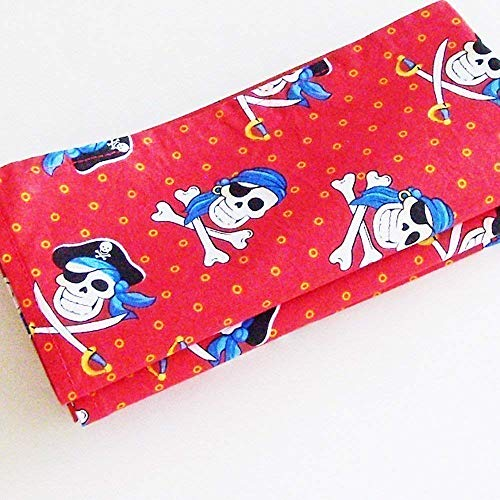 Handmade Red Pirates Napkins (Set of 4-100% Cotton) ME2Designs Table Decor