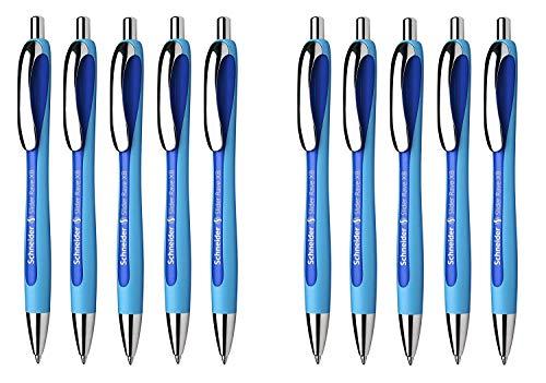 Schneider Schreibgeräte Kugelschreiber Slider Rave, Druckmechanik, XB (Slider Rave | 10 Stück, blau)