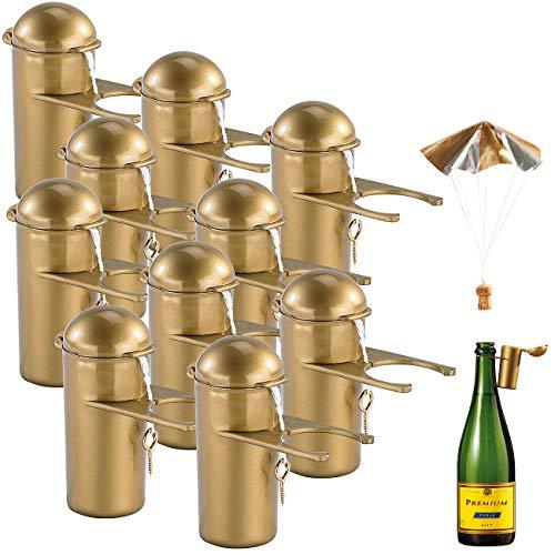PEARL Hochzeit: Sektkorken-Fallschirm 10er-Set (Partyspielzeuge)