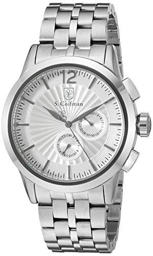 S.Coifman SC0267 Orologio da Polso, Display Cronografo, Uomo, Bracciale Acciaio Inox, Argento