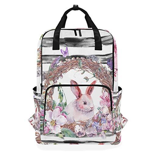 Schulschulter Tasche Osterhase Kaninchen Bookbag Rucksack Multifunktion Casual Daypack