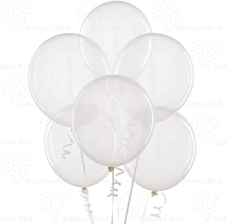 Clear 12 Inch Latex Balloons 100 Pack Thickened Extra Strong for Baby Shower Garland Wedding Photo Booth Birthday Party Su...