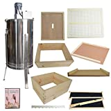 Goodland Bee Supply Complete 4 Tier Bee Hive Kit Including Electric...