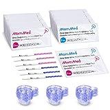 MomMed Test Ovulacion y Test Embarazo (HCG25-LH80), Incluye 25 X Pruebas de Embarazo, 80 X Test de Ovulación, 105 X recipiente de recogida de orina, prueba de fertilidad de alta precisión para mujeres