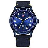 Reloj de pulsera para hombre, de cuarzo, reloj de cuarzo Relogio Masculino, color azul