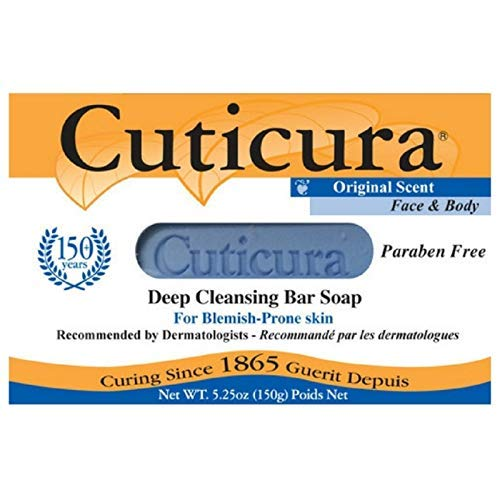 Cuticura Deep Cleansing Face and Body Soap, Original Scent 5.25 oz (Pack of 6)