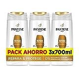 Pantene Champu, Repara Y Protege, 3 x 700 ml, Como Vitaminas Para El Cabello, Sin Siliconas