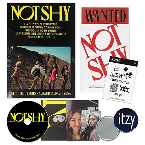 ITZY Album - NOT SHY [ A ver. ] CD + Photobook + Photocards + Lyric Accordion Book +...