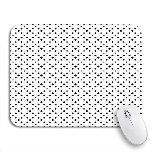Gaming mouse pad abstrakt schwarz-weiß-geometrische fliesen diagonale gepunktete schöne rutschfeste gummi backing mousepad für notebooks computer mausmatten