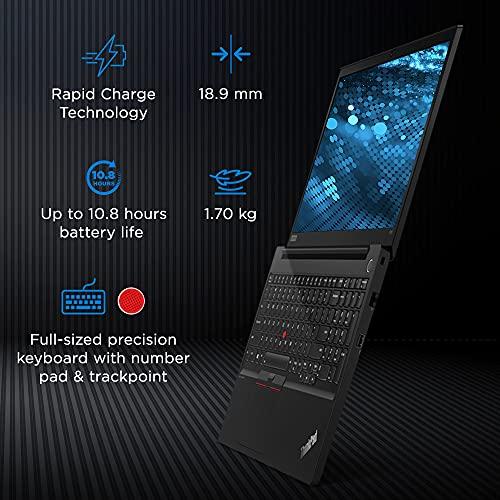 Lenovo ThinkPad E15 (2021) Intel Core i3 11th Gen 15.6 inch (39.6 cm) FHD Thin and Light Laptop (4GB RAM/256GB SSD/Windows 10/MS Office/Fingerprint Reader/Black/Aluminium Surface/ 1.7 kg), 20TDS0AB00