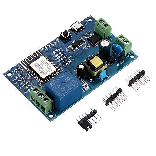RLJJCS1163 5pcs ESP-12F AC/DC Fuente de alimentación ESP8266 AC90-250V / DC7-12V / USB5V WiFi Módulo de relé Individual Tablero de Desarrollo