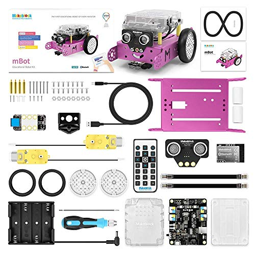 Makeblock mBot Robot Kit, LED Light Metal DIY Coding Robot with APP Remote Control, Robotics Kit for Kids Age 8+ Learning Scratch and Arduino C Programming, STEM Education