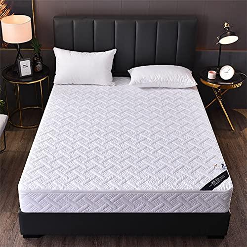 HAIBA Cama totalmente cremallera Encasement anti alergia impermeable colchón protector en (200x220cm+20cm, blanco)