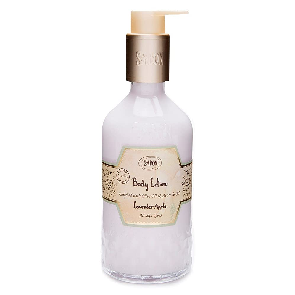 回転させる記念碑爬虫類【SABON(サボン)】ボディ ローション ラベンダー アップル ボトルタイプ Body Lotion Lavender Apple