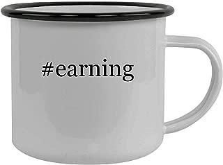 #earning - Stainless Steel Hashtag 12oz Camping Mug, Black