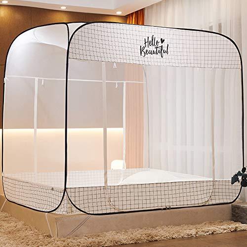 Zeemer Draagbare pop-up anti-muggennet net opvouwbaar bed overkapping met 3 openingen en onderaan voor baby-peuters kinderen volwassenen bed decoratie slaapkamer buiten camping