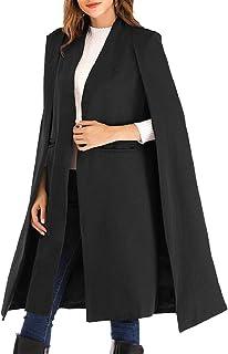 maweisong 女性秋のオープンオープンフロントアウトコートコートクロークトレンチコート
