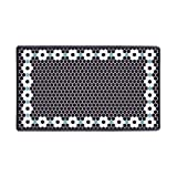 DASH Wellness Mat, 20'X34', Black Flower Tile Print