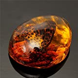FUYU Beautiful Amber Butterfly Insects Stone Pendant Necklace Gemstone for Jewellery Pendant Crafts,1
