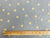 Weihnachten Stoff Sternen und Schneeflocken Design Silber &