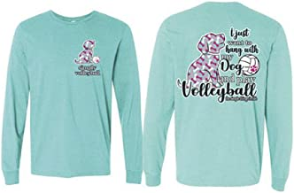 MVW Simply Volleyball Dog Long Sleeve Tee