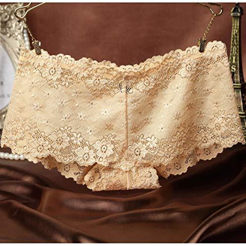 SLXHUAFA Höschen 2 Teile/los Marke Unterhose Frauen Boxer Shorts SpitzenhöschenWeibliche Schlüpfer Volle Spitze Transparent Boxer Unterwäsche