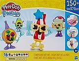 Play-Doh Treatsies - Mesa para 4 pequeños juguetes de comida con mini tocineta, aguacate, batido, pizza, caracteres