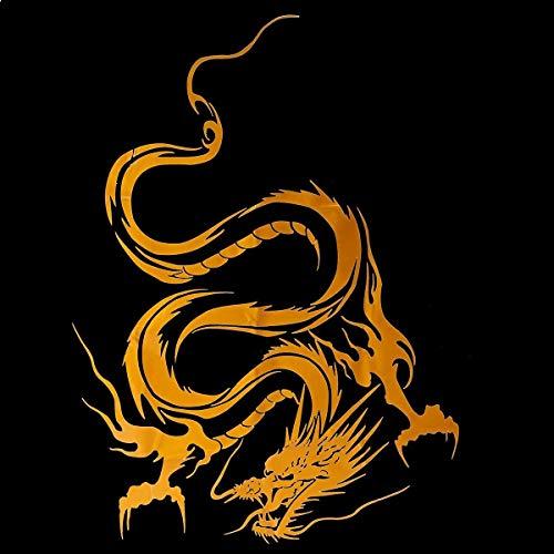 Cubierta de Coche Cuerpo Vinilo gráfico Envoltura calcomanía dragón Pegatina en Carreras Coche Deportivo reflejar calcomanía de Vinilo Personalidad Impermeable d Accesorios de Agua a Prueba de Agua