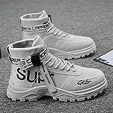 メンズラウンドヘッドマーティン ブーツ ショートブーツを使用する スエードレースアップフラットマーチンブーツファッションカジュアルアウトドアウォーキングシューズフラッツ(ブラック/ベージュ/グレー),グレー,43